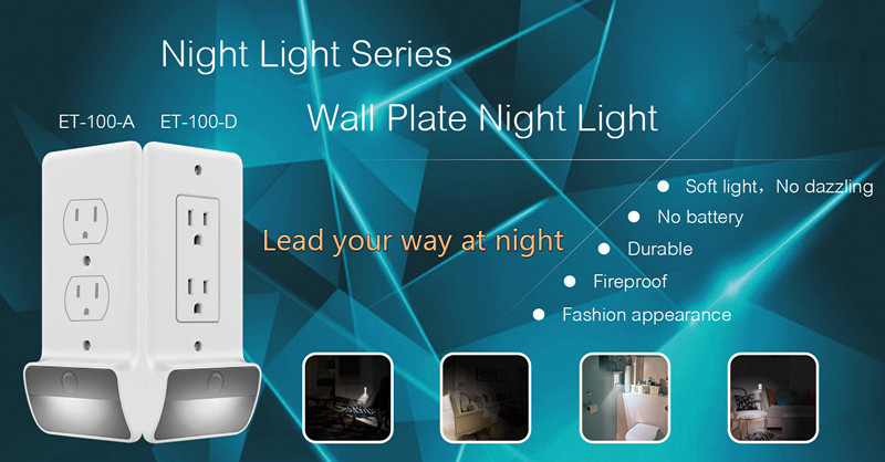 LED night light wall plate for Duplex and Decor